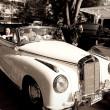 Mercedes Benz 220S cabriolet on Vintage Car Parade — Stock Photo