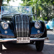 Morris Eight Series E on Vintage Car Parade - Stockfoto