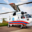 Russian Emergency Helicopter Rescue Service - Stock Photo