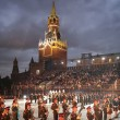 Participants of the International Military Music Festival Spass - Stockfoto