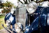 HUA HIN - DECEMBER 19: Part of Blue Car on Vintage Car Parade 20 — Stok fotoğraf