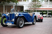 HUA HIN - DECEMBER 19: Blue Car on Vintage Car Parade 2009 at So — Stock Photo