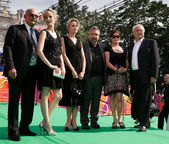 Nikita Mikhalkov, Louise Bourgoin, M. Mironova, Luc Besson, K. S — Stock Photo