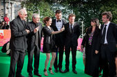 """Nikita Mikhalkov, Claude Lelouch and actors of the movie """"What L — Stock Photo"""
