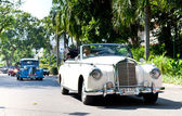Mercedes 220S on Vintage Car Parade — Stock Photo