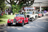 Cars row on Vintage Car Parade — Foto de Stock