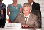 "General manager JSC Concern ""Avionics"" A. Tulin — Stock Photo"