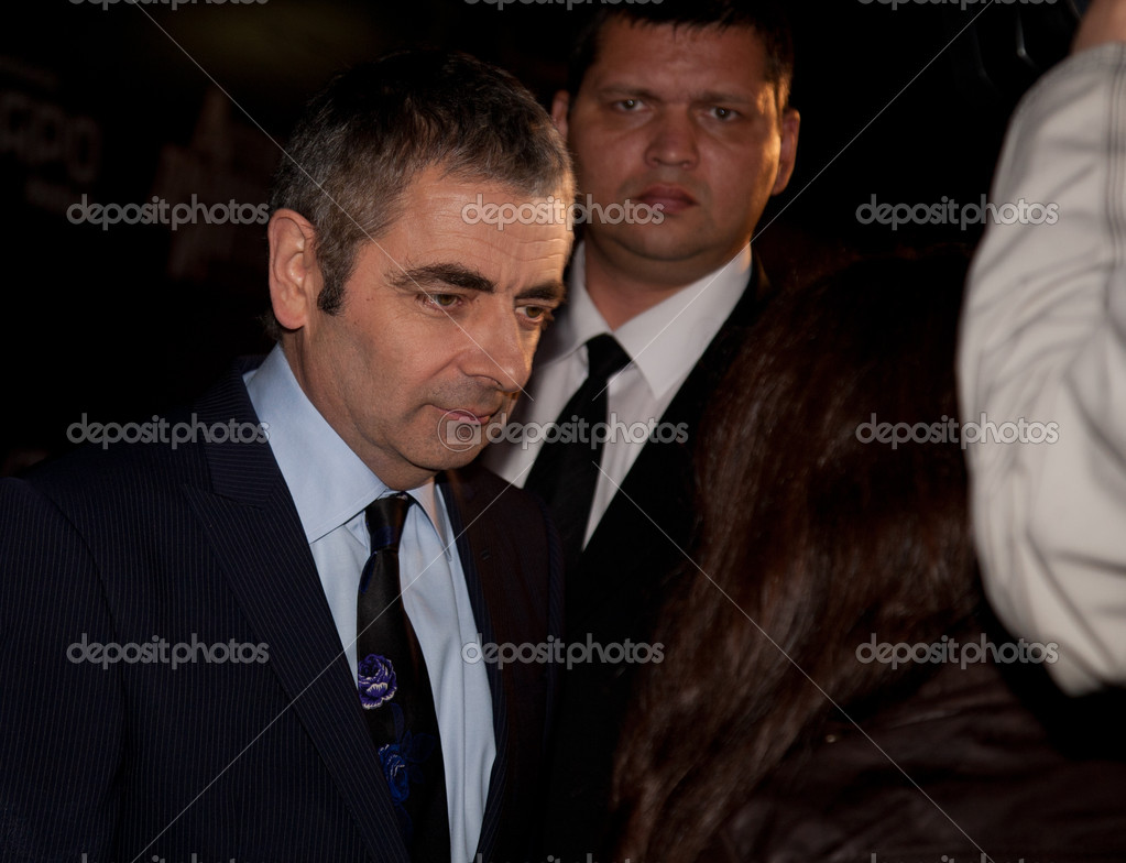 MOSCOW - SEPTEMBER 12: Actor Rowan Atkinson at the premiere of the movie Johnny English reborn at the October Cinema. September 12, 2011 in Moscow, Russia. — Stock Photo #9311512