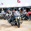 Bikers at the bike show - Stock Photo