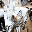 Close up of a classic motorcycle - Stock Photo