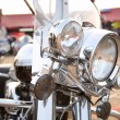 Close up of a classic motorcycle - 图库照片