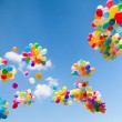 Colorful balloons — Foto de stock #9320300