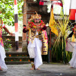 Barong perfomance actors Bali Indonesia — Stock Photo