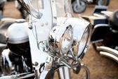 Zblízka klasického motocyklu — Stock fotografie