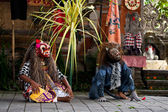 Barong dance actors — Stock Photo