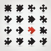 Jigsaw Pieces — Stockvektor
