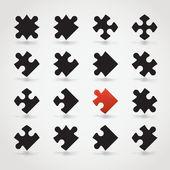 Jigsaw parçaları — Vector de stock