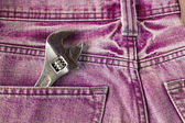 Labor jean pocket — Stock Photo