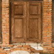Old wooden window — Foto Stock
