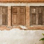ventana de madera antigua — Foto de Stock