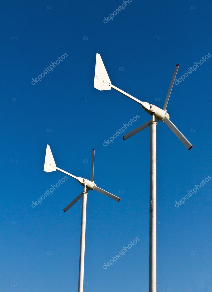 Wind energy turbine power station  Stock Photo #8684792