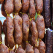 Home made meat salami - Stock Photo