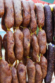 Home made meat salami — Stock Photo