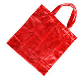 Red cotton bag — Stock Photo