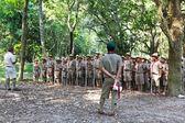 Boy scouts camp — Stockfoto
