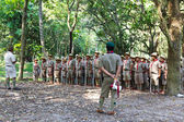 Campamento de boy scouts — Foto de Stock