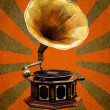 Vintage Gramophone abstract sun rays — Stock Photo #9461669