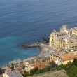 Stock Photo: Camogli aerial view