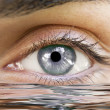Human eye reflected — Stock Photo #8822662
