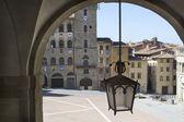The Piazza Grande of Arezzo — Stock Photo