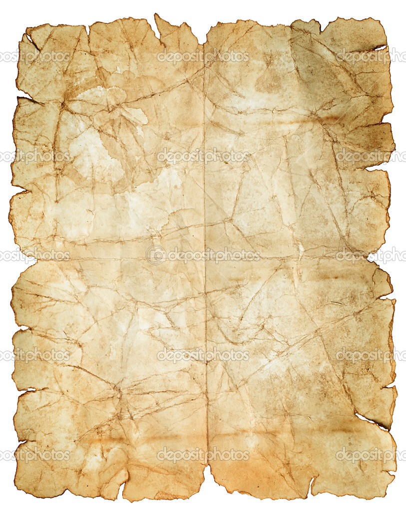 Old vintage paper texture isolated on white - Stock ImageVintage White Paper Texture
