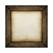 Houten frame met papier opvulling — Stockfoto