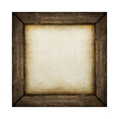 Wood frame with paper fill — Stock Photo