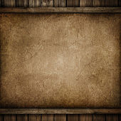 Grunge paper on wood background — Stock Photo