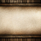 Paper on wood background — Stock Photo
