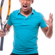 Stock Photo: Tennisangry
