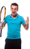 Tennisangry — Stock Photo