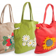 Royalty-Free Stock Photo: Group of summer beach bag with flowers