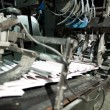 Ready newspaper on production line — Stock Photo