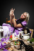 Alice im wunderland getränk flasche gift ansehen — Stockfoto