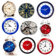 Foto Stock: Set of clocks