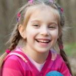 Little girl smiling — Stock Photo #10681072