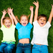Kids on grass — Stock Photo #8938501