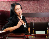 Businesswoman looking at the camera — Stock Photo