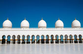 Ive domes of Sheikh Zayed Mosque — Stock Photo