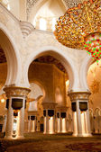 Sheikh Zayed mosque inside — Stock Photo